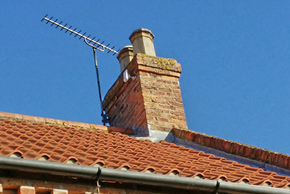 Access point on a chimney